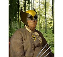 Wolverine + Ben Franklin Mash Up Photographic Print