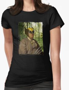 Wolverine + Ben Franklin Mash Up Womens Fitted T-Shirt