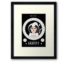 Gravity Illustration Framed Print