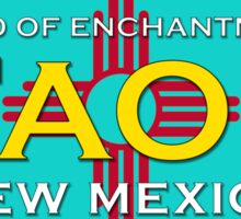 Taos New Mexico - Land of Enchantment - Zia with Turquoise Sticker