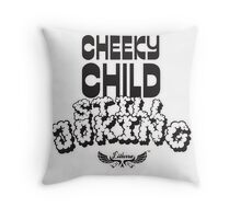 Cheeky Child Throw Pillow