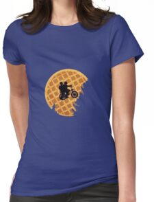 stranger things waffle moon Womens Fitted T-Shirt