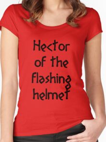 Hector (Black) Women's Fitted Scoop T-Shirt