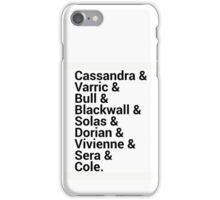 Dragon Age Inquisition Character Names iPhone Case/Skin
