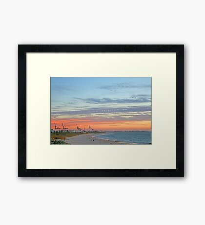 Port Beach Fremantle Western Australia  Framed Print