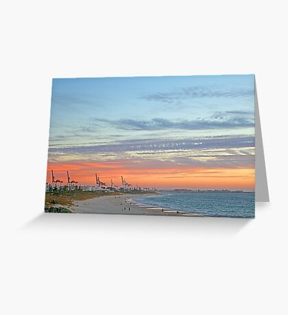 Port Beach Fremantle Western Australia  Greeting Card