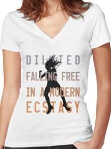 Modern Ecstasy // Perfect Illusion // Lady Gaga Women's Fitted V-Neck T-Shirt