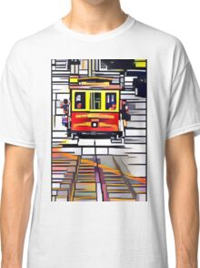 Abstracted Quartered Cubed Rectangled Cable Car Classic T-Shirt
