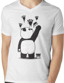Pandalism Mens V-Neck T-Shirt