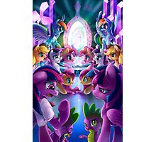Double World Pony Photographic Print