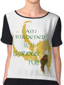 I am burdened with glorious purpose-Green text Chiffon Top