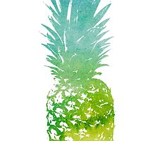Green watercolour pineapple  by float