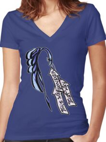 Alice's Bow and Arrows Women's Fitted V-Neck T-Shirt