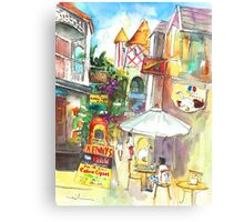 Street In St Marteen Canvas Print
