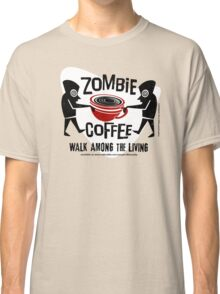 Zombie Coffee Retro T-shirt original design Classic T-Shirt