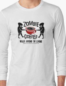 Zombie Coffee Retro T-shirt original design Long Sleeve T-Shirt