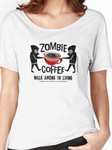 Zombie Coffee Retro T-shirt original design Women's Relaxed Fit T-Shirt