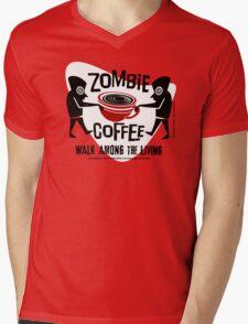 Zombie Coffee Retro T-shirt original design Mens V-Neck T-Shirt
