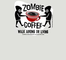 Zombie Coffee Retro T-shirt original design Womens Fitted T-Shirt