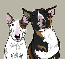 Freddie and Lola English Bull Terrier's  by Sookiesooker