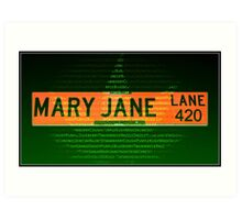 Mary Jane Lane 420 Art Print