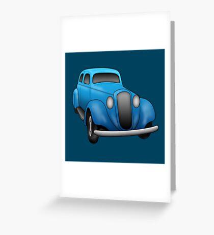 Blue Vintage Car Greeting Card