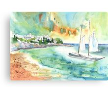 Sailing In Saint Martin Canvas Print