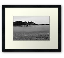 Fog on the water Framed Print