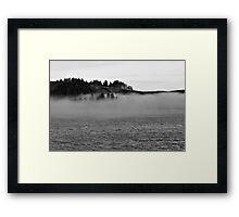 Fog on the water Framed Print