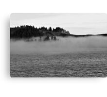 Fog on the water Canvas Print
