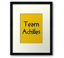 Team Achilles (Black) Framed Print
