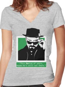 Heisenberg, This GEnius... Women's Fitted V-Neck T-Shirt