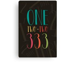 1 2 3 - One Two Three Canvas Print