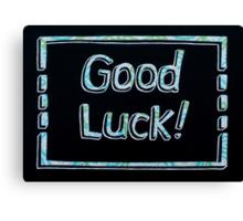 Good Luck! Card Cutout Design Canvas Print
