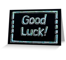 Good Luck! Card Cutout Design Greeting Card