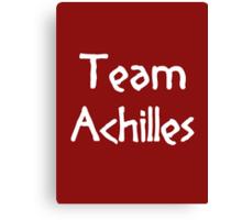 Team Achilles (White) Canvas Print