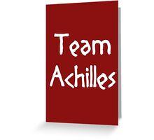 Team Achilles (White) Greeting Card