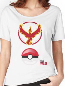 Valor Red Team, Pokemon GO Women's Relaxed Fit T-Shirt