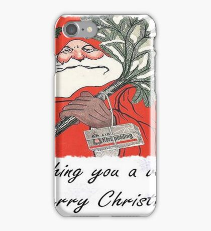 Wishing You A Very Merry Christmas Greeting  iPhone Case/Skin