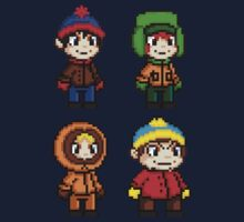 South Park Boys - Pixel Art Kids Tee