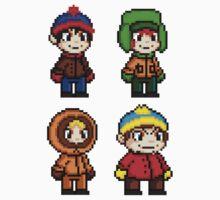 South Park Boys - Pixel Art Kids Tee