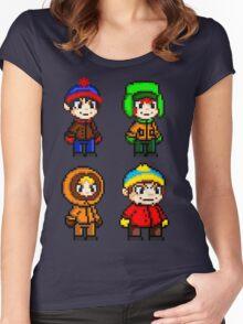 South Park Boys - Pixel Art Women's Fitted Scoop T-Shirt