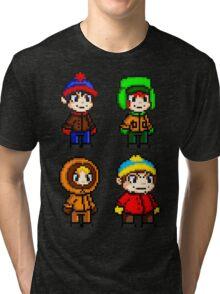 South Park Boys - Pixel Art Tri-blend T-Shirt