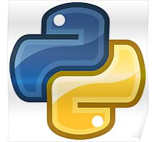 Best Python Logo Royal Blue and Gold Edition Poster