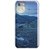 pine trees near valley in mountain at night iPhone Case/Skin