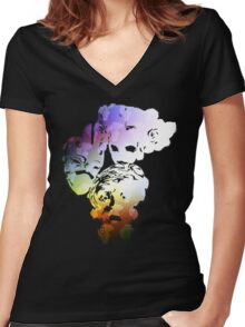 Father, Mother & Child Women's Fitted V-Neck T-Shirt