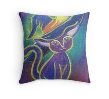 Witchy Kitty - Happy Halloween!!! Throw Pillow