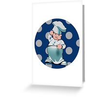 Little Cook Thinking Greeting Card