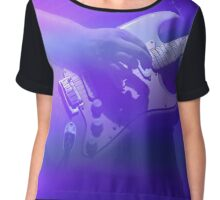 Purple Guitarist  Chiffon Top