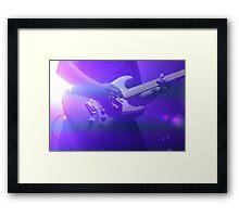 Purple Guitarist  Framed Print
